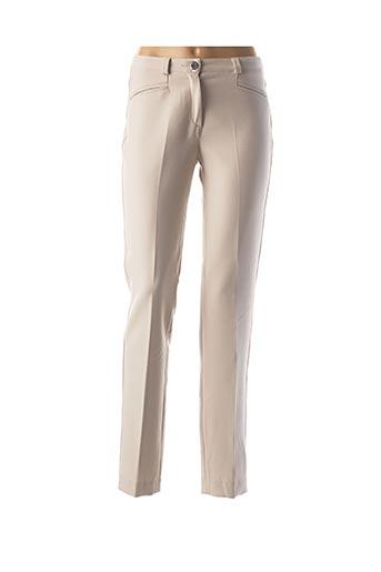 Pantalon casual beige DIVAS pour femme