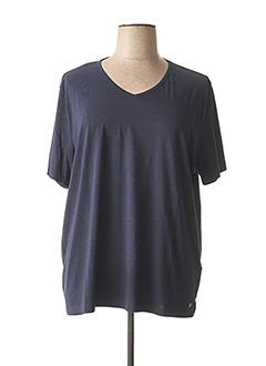 T-shirt manches courtes bleu BRANDTEX pour femme