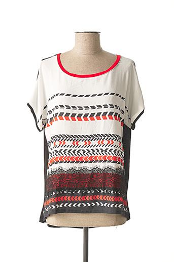 T-shirt manches courtes noir ALEXE pour femme
