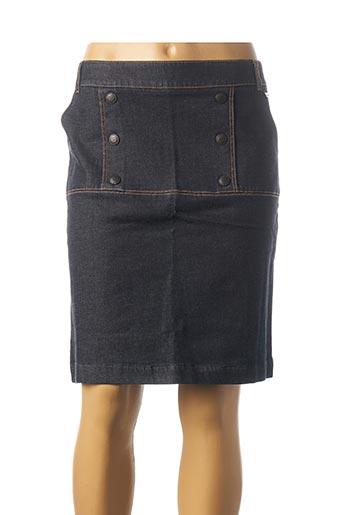 Jupe mi-longue bleu MAE MAHE pour femme