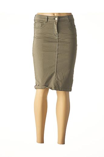 Jupe mi-longue vert CARLA KOPS pour femme