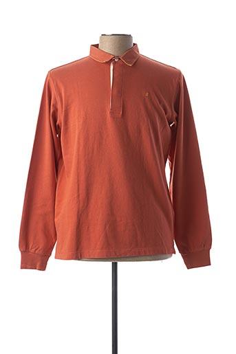 Polo manches longues orange SERGE BLANCO pour homme
