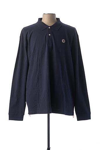 Polo sans manche bleu SERGE BLANCO pour homme