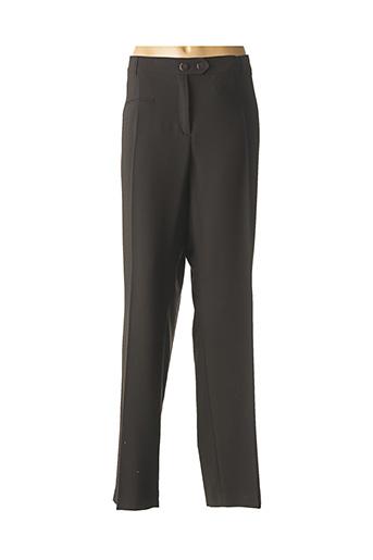 Pantalon chic noir FLEUR DE SEL pour femme