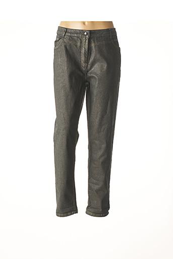 Pantalon casual vert FLEUR DE SEL pour femme