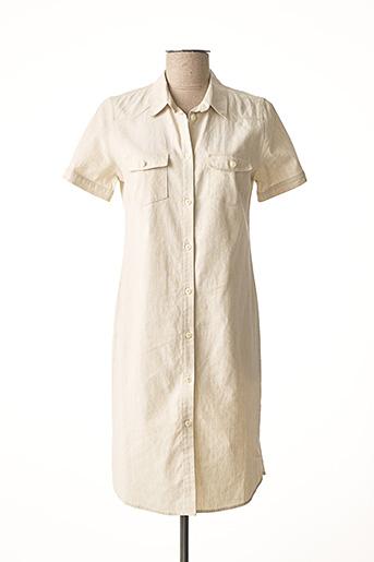 Robe courte beige BRUNO SAINT HILAIRE pour femme