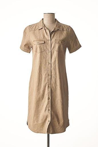 Robe courte marron BRUNO SAINT HILAIRE pour femme