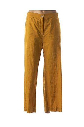 Pantalon 7/8 jaune MARINA RINALDI pour femme
