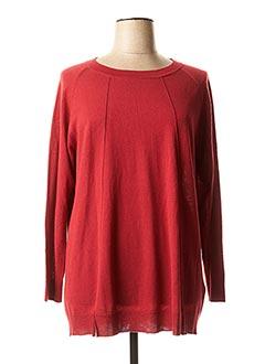 Pull tunique rouge ELENA MIRO pour femme