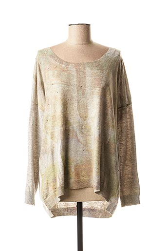 Pull col rond gris INTERDEE pour femme