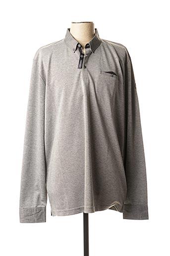Polo manches longues gris TBS pour homme