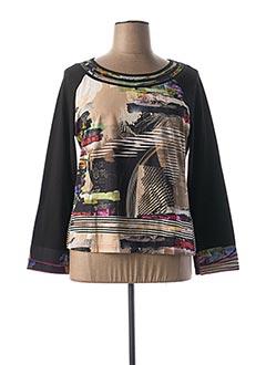 T-shirt manches longues noir FIGURE LIBRE pour femme
