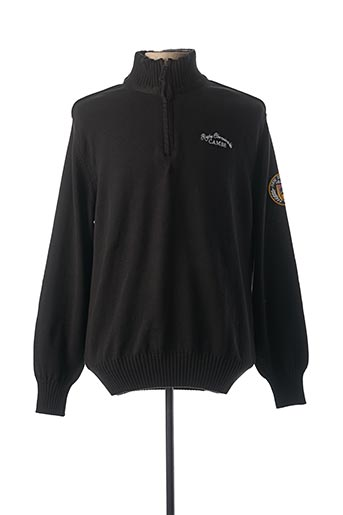 Pull col cheminée noir CAMBE pour homme