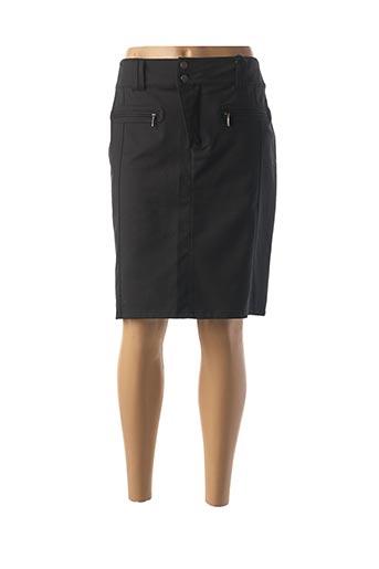 Jupe mi-longue noir IMITZ pour femme