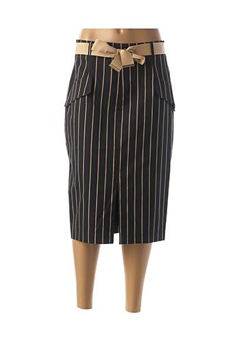 Jupe mi-longue noir CRISTINA EFFE pour femme