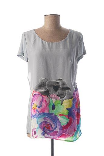 T-shirt manches courtes gris DIDIER PARAKIAN pour femme