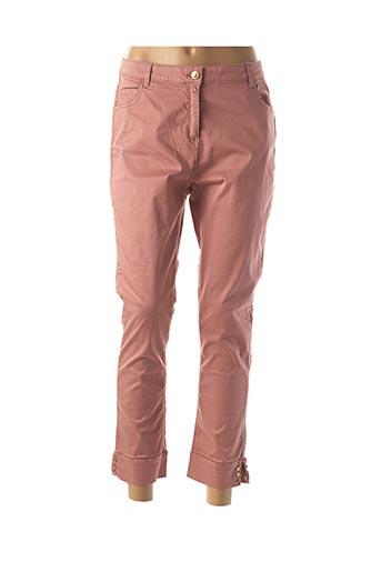 Pantalon 7/8 rose JULIE GUERLANDE pour femme