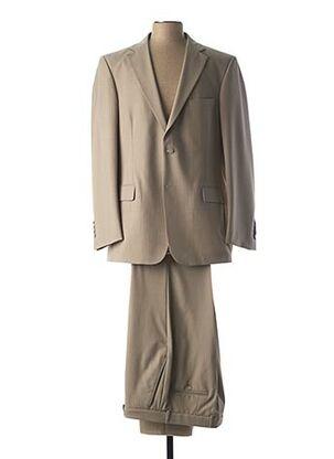 Costume de ville beige BRUNO SAINT HILAIRE pour homme