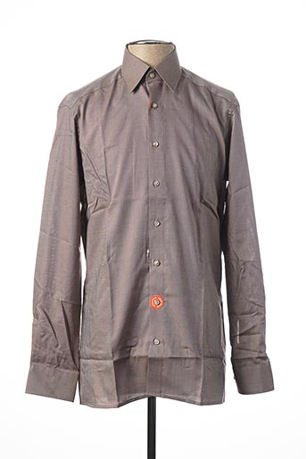 Chemise manches longues beige OLYMP pour homme