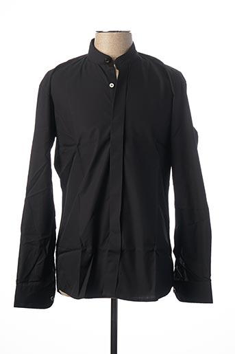 Chemise manches longues noir GUY LAURENT pour homme