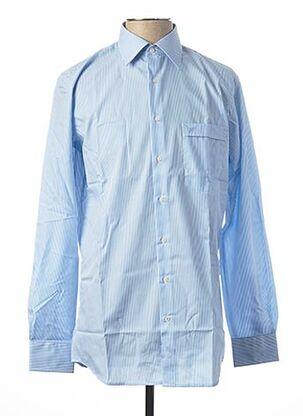 Chemise manches longues bleu JEAN CHATEL pour homme