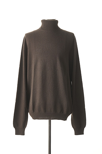 Pull col roulé marron DANY SMITH pour homme