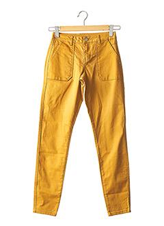 Pantalon casual jaune VILA pour femme