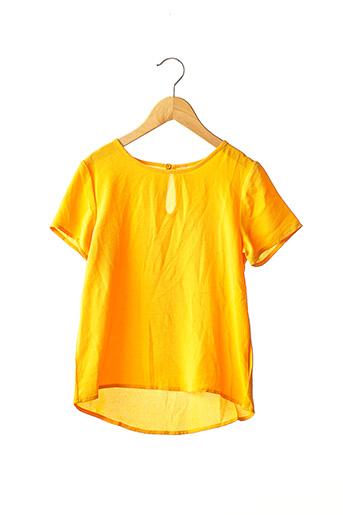 Blouse manches courtes jaune ONLY pour fille