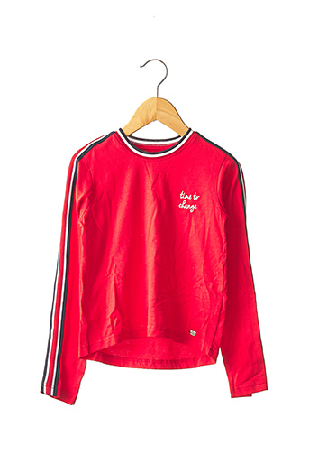 T-shirt manches longues rouge TIFFOSI pour fille