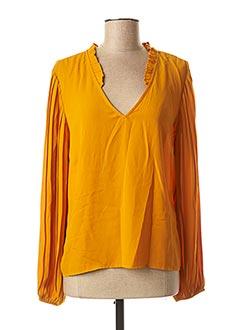 Blouse manches longues orange VILA pour femme