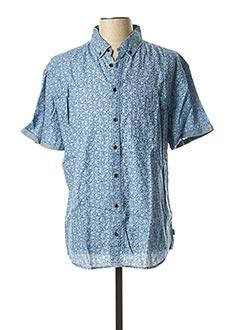 Chemise manches courtes bleu BLEND pour homme