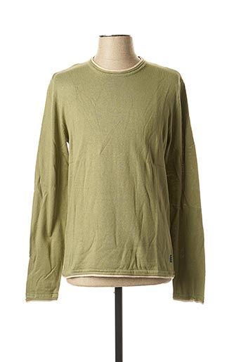 Pull col rond vert BLEND pour homme