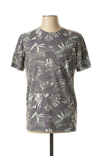 T-shirt manches courtes gris PREMIUM DE JACK AND JONES pour homme