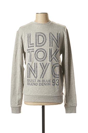 Sweat-shirt gris BLEND pour homme