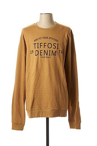 Sweat-shirt marron TIFFOSI pour homme