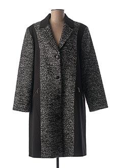 Manteau long noir GRIFFON pour femme