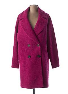 Manteau long rose PAUSE CAFE pour femme