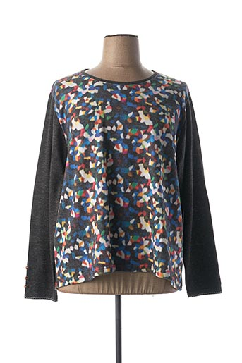 Pull col rond gris GEVANA pour femme