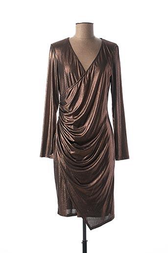 Robe mi-longue marron FILLE A SUIVRE pour femme