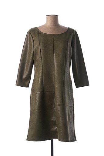 Robe mi-longue vert FILLE A SUIVRE pour femme
