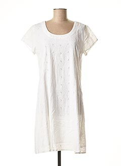 Robe mi-longue blanc AGATHE & LOUISE pour femme