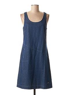 Robe mi-longue bleu AGATHE & LOUISE pour femme