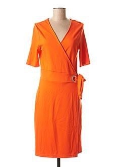 Robe mi-longue orange B.YOUNG pour femme