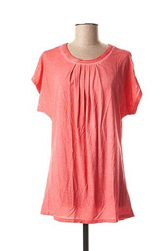 T-shirt manches courtes rouge LEBEK pour femme