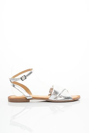 Sandales/Nu pieds gris GIOSEPPO pour femme