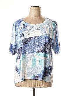 T-shirt manches courtes bleu GRIFFON pour femme