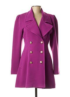 Manteau court violet RINASCIMENTO pour femme