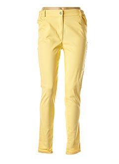 Pantalon casual jaune ALAIN MURATI pour femme