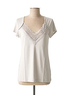 T-shirt manches courtes gris LAUREN VIDAL pour femme