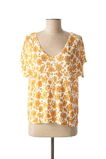 T-shirt manches courtes marron LE PETIT BAIGNEUR pour femme